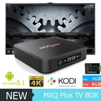 google internet tv box - Amlogic S905 MXQ Plus With LED Display Android GB GB Google Play Sky Line Box Kodi Satellite Receiver Internet