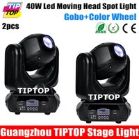 beam statics - TIPTOP Freeshipping Unit Mini Size W Led Moving Head Light Beam Spot Light with colors open rainbow effect static gobos open