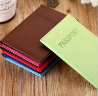 Wholesale Fashion Passport Ticket ID Document Holder Credit Card Travel Cover Protector Travel Accessories Passport Case Colors Free DHL