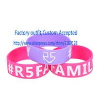 Wholesale PC R5 Family Silicone Wristband Bracelet quot Wide Band For Music Concert Adult Size Custom Your logo Accepted