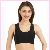 Wholesale women outdoor sport or yoya stretch vest and meryl seamless slim genie bras with strong elasticity