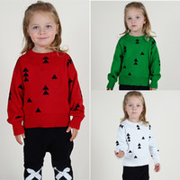 baby sweater crochet pattern - 2016 Kids Baby Clothing Jumper Sweater Candy Colors Cute Christmas tree Pattern Cotton Crochet Knit Pullover Children Autumn Winter Coat