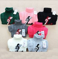 Wholesale New Unisex winter autumn infant baby boy girl child Cartoon turtleneck sweater Children outerwear Pullovers sweatshirt sweater