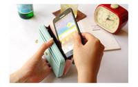 Libre de las mujeres del envío del monedero de la corona color puro carpetas del sobre de teléfono de bolsillo bolsos de embrague Los titulares de tarjetas de múltiples funciones