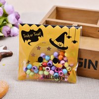 baking halloween - 500pcs halloween theme Cookie packaging Colorful bottles self adhesive plastic bags for biscuits snack baking package x10cm