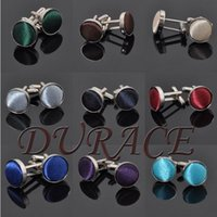 Wholesale Round Cuff Links colors Men s shirts high quality cufflinks for Father s Day Christmas Gift Free FedEx TNT