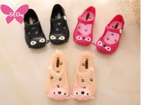 Wholesale Mini Melissa girl sandals Summer style children shoes cute bow cat child baby sandals