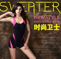 Wholesale The Hot selling sports swim suit professional plain solid color sexy one pieces swim wear for female