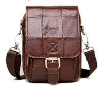 Wholesale Fashion Brand New Men s Vintage Genuine Leather Messenger Bag Men Male Cowhide Shoulder Crossbody Mini Bags