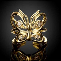 Wholesale 2016 new arrival sterling silver ring inlaid stone Milan female butterfly ring jewelry jewelry for holiday gift