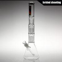 arm shipping - NEW ZOB glass Mini Double Arm Tree Beaker Tech bongs glass bong water pipes thick glass