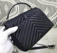 Wholesale Classic Women Falp Bag V Style Design Chain Shoulder Bag Medium Fashion Handbags Original Goatskin Leather
