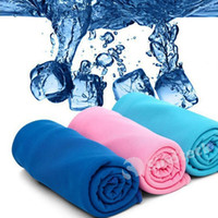 Wholesale 2016 New Cold Towel Summer Sports Ice Cooling Towel Double Color Hypothermia cool Towel cm for sports children Adult Free Shiping