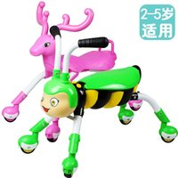 Wholesale Baby four wheel scooter skateboard children walker stroller twist car with music at the age of mute wheel