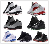 Wholesale 2016 High Quality Air Retro XIII Man Basketball Shoes M Bred Grey toe He Got Game Athletics Sport Sneaker Boots