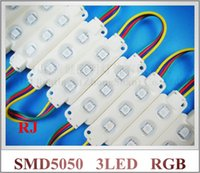 Wholesale high quality injection RGB LED module SMD waterproof LED advertising light module RGB DC12V W led IP66