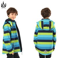 Wholesale 2016 Fashion England Style Softshell Jacket Kids Outdoor Coat With Removable Hood Waterproof Jacket Camping Hiking Mountain Boys