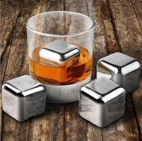 Wholesale DHL Fedex Stainless Steel Whiskey Stones Ice Cubes Soapstone Glacier Cooler Stone