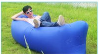 Wholesale New TOP SALES Fast Inflatable Sofa Sleeping Bag Outdoor Air Sleep Sofa Couch Portable Furniture Sleeping Hangout Lounger Inflate Air Bed