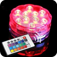 Wholesale Waterproof RGB Multicolor LED Submersible Party Light Base with Remote Control