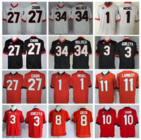 Wholesale 2016 College Georgia Bulldogs Football Jerseys Sony Michel Nick Chubb Jersey Herchel Walker Todd Gurley Jacob Eason AJ Green