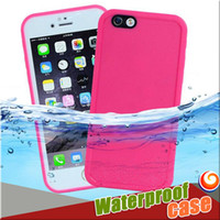 Wholesale Iphone S7 Waterproof Case TPU Rubber Full Boday Cover For iphone s plus s Shock proof Dust proof Underwater Diving Cases