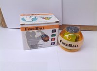 ball racks - DHL Fedex Wrist Power Force Ball Arm Exercise Gyroscope with LED Lighting Speed Meter