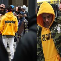 Wholesale Justin Bieber Fear of God Purpose Tour Yellow Men Woman Hoodies Spring New Long Sleeve Man Lovers Hooded Wweatshirt S XL
