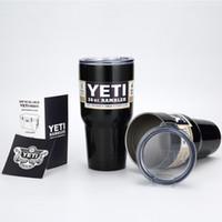 beer lots - 1pcs Yeti oz Rambler Tumbler Bilayer Stainless Steel Insulation Cup OZ Cups Cars Beer Mug Large Capacity Mug Tumblerful