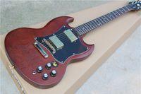 Cheap New guitars G400 electric guitar SG red matt finish 2 pickups humbacker electric guitar,SG standard 120 guitar,free shipping