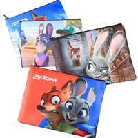 Wholesale PrettyBaby types Zootopia figures printing Pencil Bags kids school supplies big size A5 zipper style DHL ship for free