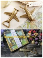 begin table - Travel themed Wedding party favors of quot Let the Adventure Begin quot Airplane Bottle Opener Wedding decoration gift