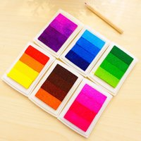 Wholesale New style DIY Oil Based Multi Colour Ink Pad For Rubber Stamps Paper Wood Craft Fabric