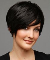 Wholesale New sexy Women s ladies short black Straight Natural Hair wigs