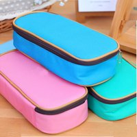 best travel cosmetic case - Best Promotion Large Capacity Multifunctional Canvas Pencil Case Pen Cosmetic Travel Bags Box Office School Kids Stationery