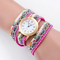batteries deals - 2016 Super Deal Fashion Women s Watches Retro Bracelet Watch Synthetic Leather Quartz Watch Crystal Bling Dress Montre Relogio
