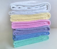 Wholesale Newborn Baby Blankets Super Soft Cotton Crochet Summer Candy Color Prop Crib Casual Sleeping Bed Supplies Hole Wrap cmX80cm