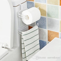 Wholesale Simple Design double deck Toilet Paper Holder Bathroom Paper Holder Toilet Paper Towel Roll Holder Rack