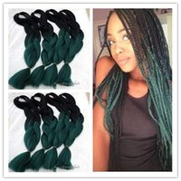 Wholesale new fashion kanekalon hair extension ombre braiding hair inch synthetic ombre braiding hair