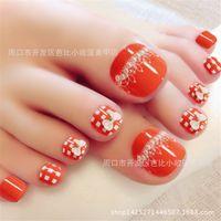 beautiful toe nails - The super invincible beautiful summer toe nails false nail for Foot Nail manicure Kawaii Foot False Nail