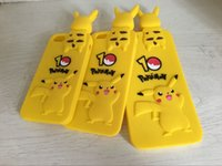 For Samsung bending rubber - 3D Poke Pikachu Soft Silicone Gel Case For Iphone S Plus S SE I6 Lovely Cartoon Grovel Bend Over Pokeball Rubber Phone Cover