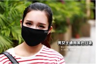 Wholesale Hot Selling Black Unisex Mens Womens Cycling Wearing Anti Dust Cotton Mouth Face Mask Respirator
