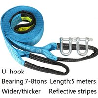 Wholesale tons meters the best high grade towing ropes wider thicker reflective stripes trailer rope car tools Tensioning Belts