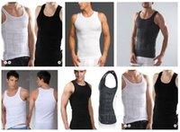 Wholesale Mens bodysuit Men s slim Body Shaper men waist cincher Slimming Shirt undershirt Tummy Belt Waist Trainer Shaping Underwear