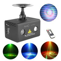 Wholesale Aurora IR Remote Patterns RG Laser Lighting Xmas Water Galaxy RGB LED Stage Light Projector Mix Effect Party DJ Home LL RG