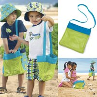 Wholesale New Arrival Unisex Kids Sand Away Carry Beach Treasures Toys Pouch Tote Mesh Childrens Storage Bag