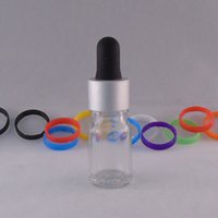 al por mayor gafas de seguridad redondas-5ML Botella de vidrio redondo transparente E Botella de vidrio líquido Tamper Proof Glass Dropper Botellas vacías con tapa de seguridad para niños