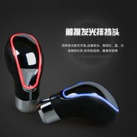Wholesale TOUCH MOTION ACTIVATED Blue Red White Changeable LED LIGHT CAR SHIFT KNOB UNIVERSAL SHIFTER GEAR