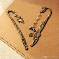 beaded bookmark patterns - 2015 Retro Metal Bookmarks Fairy Mermaid Legends Elf Classical Elf Pattern Mermaid Beaded Bowknot Bookmark