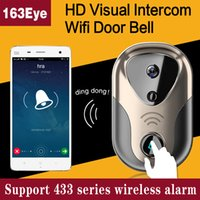 Wholesale 163Eye HD Visual Intercom WiFi Door Bell L1 Video Door Intercom WiFi IP Camera System Support Series Wireless Alarm Doorbell Video Door